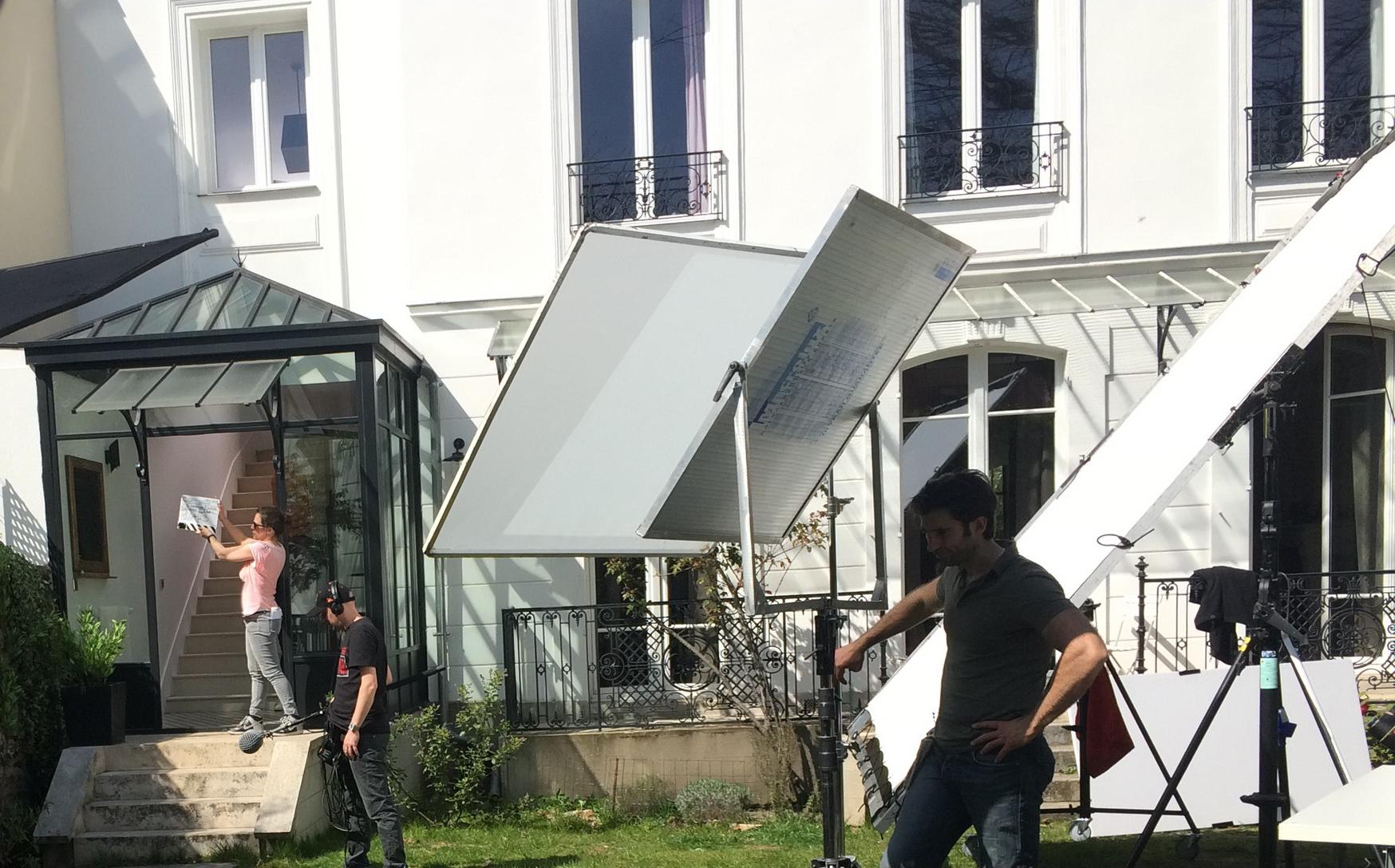 Exterieur de la maison, tournage de la scène 1