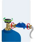 branchement bouteille gaz