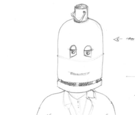 Masque Homme Bouteille Croquis