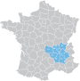 Zones desservies sur la carte de France